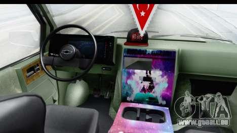 Chevrolet Astro Stance pour GTA San Andreas vue arrière