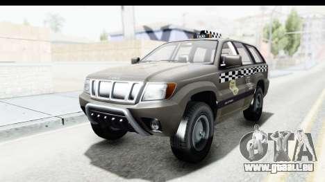 GTA 5 Canis Seminole Taxi Saints Row 4 Retro für GTA San Andreas zurück linke Ansicht