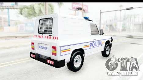 Aro 243 1996 Police pour GTA San Andreas vue de droite