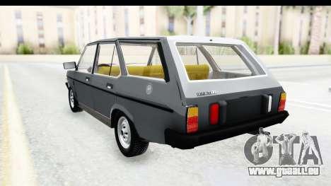 Fiat 131 Panorama für GTA San Andreas zurück linke Ansicht