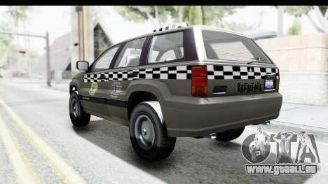 GTA 5 Canis Seminole Taxi Saints Row 4 Retro für GTA San Andreas linke Ansicht