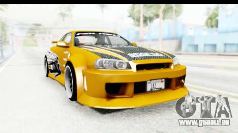 NFSU Eddie Nissan Skyline für GTA San Andreas rechten Ansicht