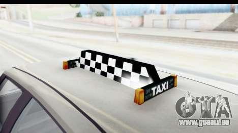 GTA 5 Canis Seminole Taxi Saints Row 4 Retro pour GTA San Andreas vue de côté
