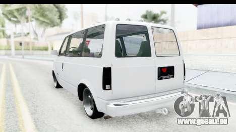 Chevrolet Astro Stance pour GTA San Andreas sur la vue arrière gauche