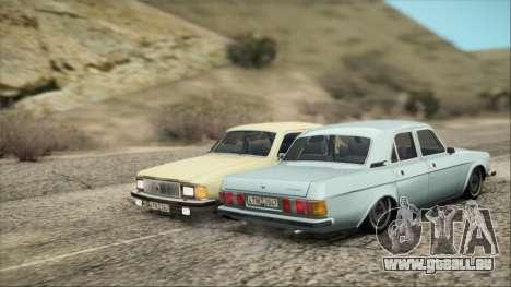 GAZ 3102 début pour GTA San Andreas sur la vue arrière gauche