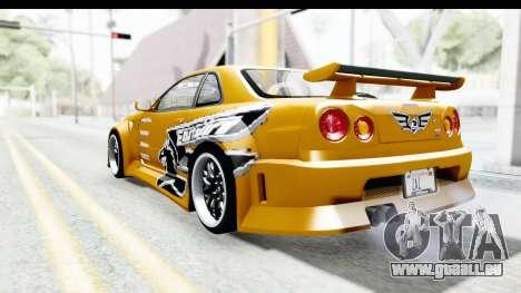 NFSU Eddie Nissan Skyline pour GTA San Andreas laissé vue