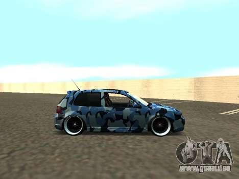 Volkswagen Golf MK4 R32 Position pour GTA San Andreas vue de droite