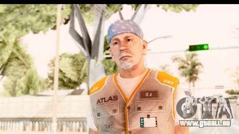 COD AW - John Malkovich Janitor pour GTA San Andreas
