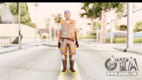 COD AW - John Malkovich Janitor pour GTA San Andreas deuxième écran