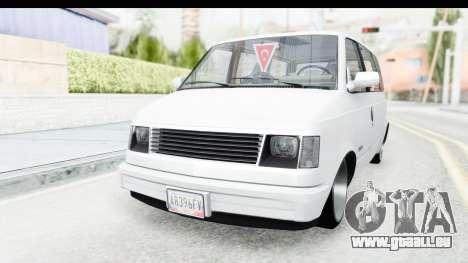 Chevrolet Astro Stance pour GTA San Andreas vue de droite
