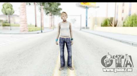 Silent Hill 3 - Heather Sporty White Base für GTA San Andreas zweiten Screenshot
