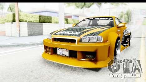 NFSU Eddie Nissan Skyline pour GTA San Andreas