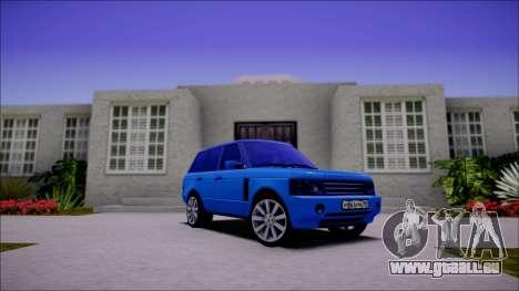 Land Rover Range Rover III (Pontorezka) pour GTA San Andreas laissé vue