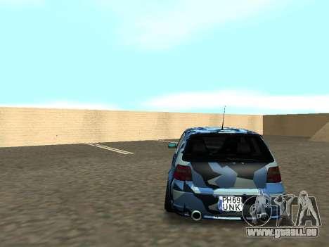 Volkswagen Golf MK4 R32 Position pour GTA San Andreas vue intérieure