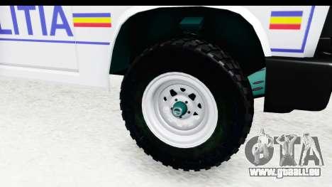 Aro 243 1996 Police pour GTA San Andreas vue arrière