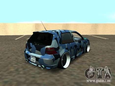 Volkswagen Golf MK4 R32 Position pour GTA San Andreas vue de côté
