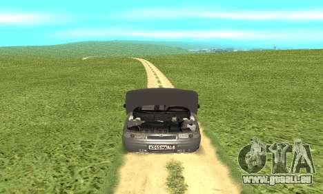 VAZ 2112 pour GTA San Andreas vue intérieure