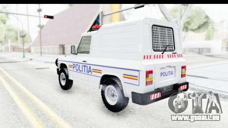 Aro 243 1996 Police pour GTA San Andreas laissé vue