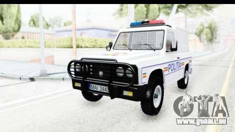Aro 243 1996 Police pour GTA San Andreas sur la vue arrière gauche