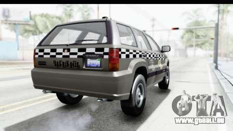 GTA 5 Canis Seminole Taxi Saints Row 4 Retro pour GTA San Andreas vue de droite