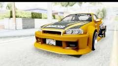NFSU Eddie Nissan Skyline für GTA San Andreas