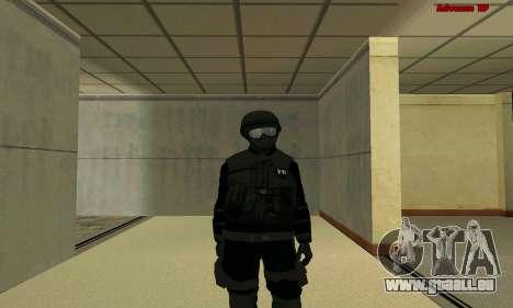 La peau FIB SWAT de GTA 5 pour GTA San Andreas