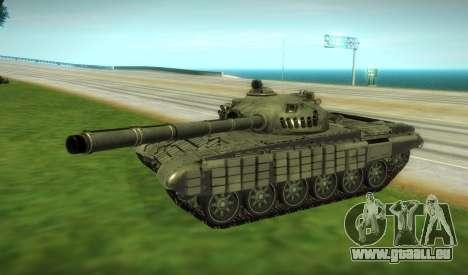 T-72 Modifié pour GTA San Andreas laissé vue