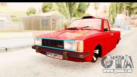Peykan Pickup Full Sport Iranian pour GTA San Andreas sur la vue arrière gauche