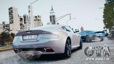 Aston Martin DB9 2013 für GTA 4 Unteransicht