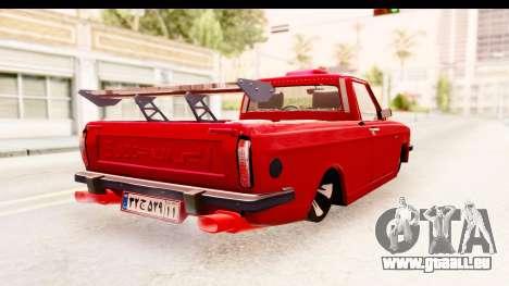 Peykan Pickup Full Sport Iranian pour GTA San Andreas vue de droite