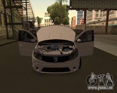 Dacia Logan Londero Misterios Urechiata für GTA San Andreas zurück linke Ansicht