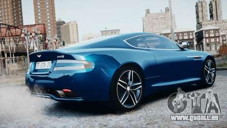Aston Martin DB9 2013 für GTA 4 obere Ansicht