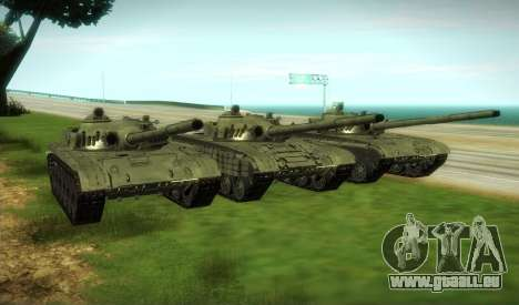 T-72 Modifié pour GTA San Andreas vue arrière