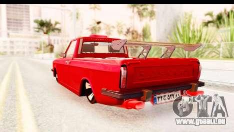 Peykan Pickup Full Sport Iranian pour GTA San Andreas laissé vue