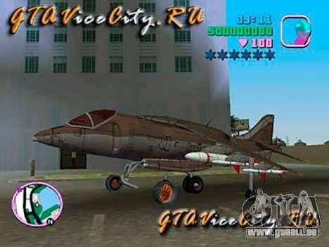 Harrier pour GTA Vice City sur la vue arrière gauche