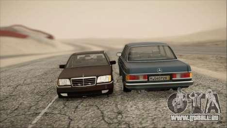 Mercedes-Benz s600 AMG pour GTA San Andreas vue arrière