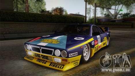 Lancia Rally 037 Stradale (SE037) 1982 Dirt PJ1 für GTA San Andreas zurück linke Ansicht