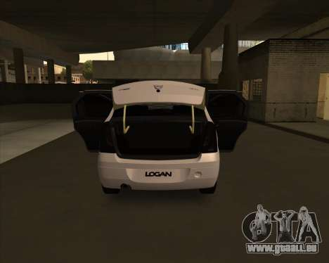 Dacia Logan Londero Misterios Urechiata pour GTA San Andreas vue de droite