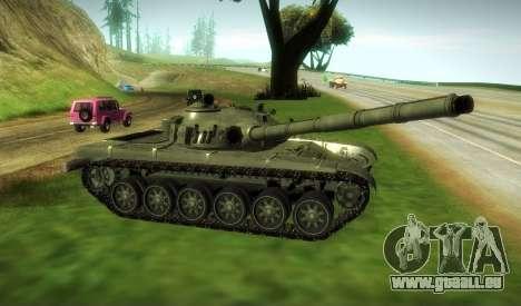 T-72 Modifié pour GTA San Andreas sur la vue arrière gauche