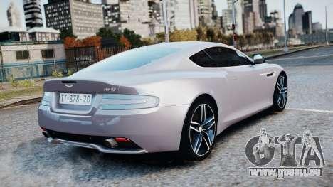 Aston Martin DB9 2013 pour GTA 4 est un côté