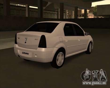 Dacia Logan Londero Misterios Urechiata pour GTA San Andreas laissé vue