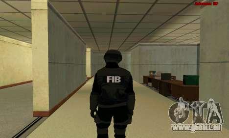 La peau FIB SWAT de GTA 5 pour GTA San Andreas troisième écran