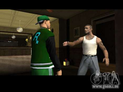 White CJ v3 Improved pour GTA San Andreas