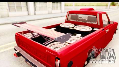 Peykan Pickup Full Sport Iranian pour GTA San Andreas vue intérieure