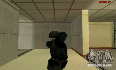 La peau FIB SWAT de GTA 5 pour GTA San Andreas cinquième écran