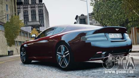 Aston Martin DB9 2013 pour GTA 4 est une vue de l'intérieur