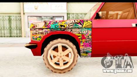 Huntley Sticker Bomb pour GTA San Andreas vue arrière