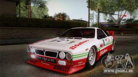 Lancia Rally 037 Stradale (SE037) 1982 Dirt PJ1 für GTA San Andreas rechten Ansicht