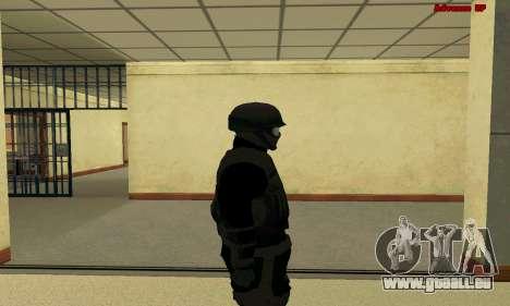 La peau FIB SWAT de GTA 5 pour GTA San Andreas quatrième écran