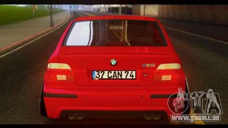 BMW M5 E39 pour GTA San Andreas sur la vue arrière gauche